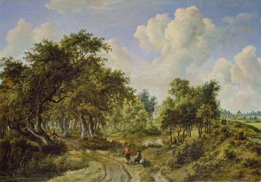 A Wooded Landscape | Meindert Hobbema | Oil Painting