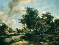 Stormy Landscape   Meindert Hobbema   Oil Painting