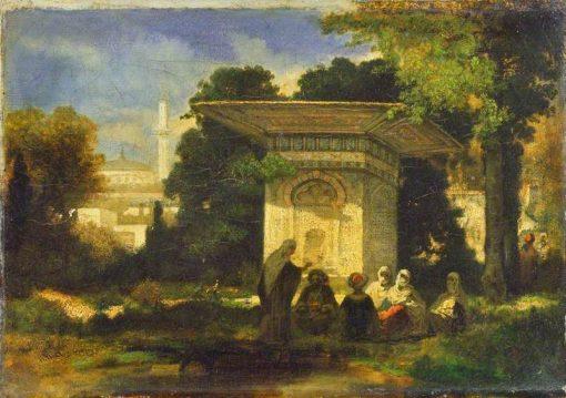 A Turkish Fountain | Narcisse Dìaz de la Peña | Oil Painting