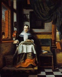 The Virtuous Woman   Nicolaes Maes   Oil Painting