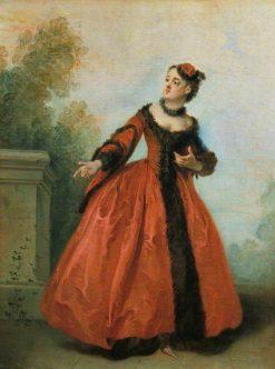 The Beautiful Greek(also known as La belle grecque)   Nicolas Lancret   Oil Painting