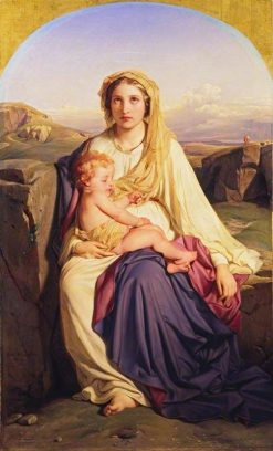 The Virgin and Child   Paul Delaroche   Oil Painting