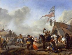 A Camp Scene | Philips Wouwerman | Oil Painting