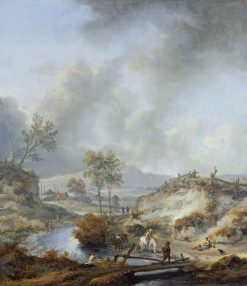 A Stream in Hilly Country | Philips Wouwerman | Oil Painting