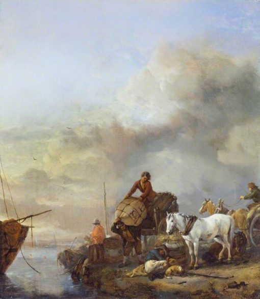 Landing a Boat | Philips Wouwerman | Oil Painting