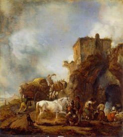 Shoeing a Horse | Philips Wouwerman | Oil Painting