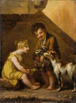 Puppies | Pierre Paul Prud'hon | Oil Painting