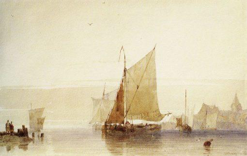 Fishing Boats | Richard Parkes Bonington | Oil Painting