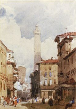 Bologna: The Leaning Towers | Richard Parkes Bonington | Oil Painting