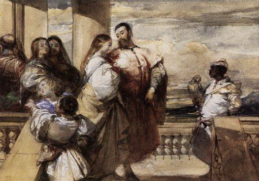 A Venetian Scene | Richard Parkes Bonington | Oil Painting