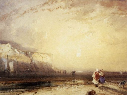Sunset in the Pays de Caux | Richard Parkes Bonington | Oil Painting