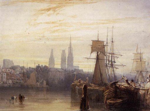 Rouen   Richard Parkes Bonington   Oil Painting