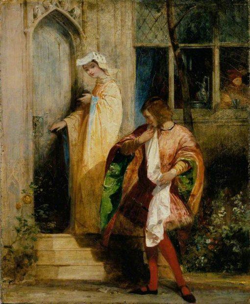 Ann Page and Slender   Richard Parkes Bonington   Oil Painting
