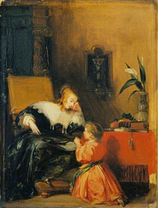 Child at Prayer | Richard Parkes Bonington | Oil Painting