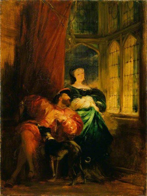 Francois Ier and Marguerite de Navarre   Richard Parkes Bonington   Oil Painting