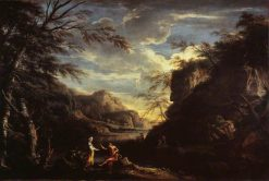 Landscape with Apollo and the Cumaean Sybil | Salvator Rosa | Oil Painting