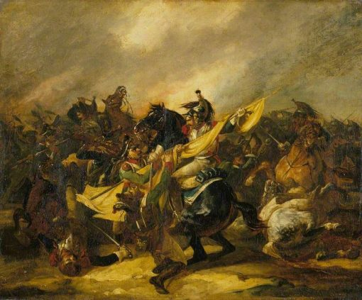 A Charge of Cuirassiers   ThEodore GEricault   Oil Painting
