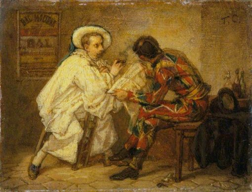 Harlequin and Pierrot | Thomas Couture | Oil Painting