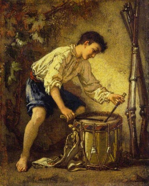 The Young Drummer   Thomas Couture   Oil Painting