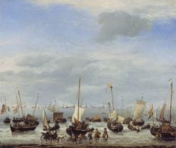 The Embarkation of Charles II at Scheveningen | Willem van de Velde the Younger | Oil Painting