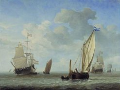 Vessels in a Breeze | Willem van de Velde the Younger | Oil Painting