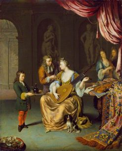 The Lute Player | Willem van Mieris | Oil Painting