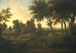 Landscape with Farm Buildings | George Lambert | Oil Painting