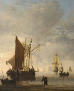 Shipping Scene: A Calm | Willem van de Velde the Younger | Oil Painting