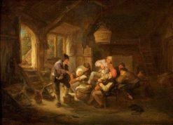 Drinking Scene | Adriaen van Ostade | Oil Painting