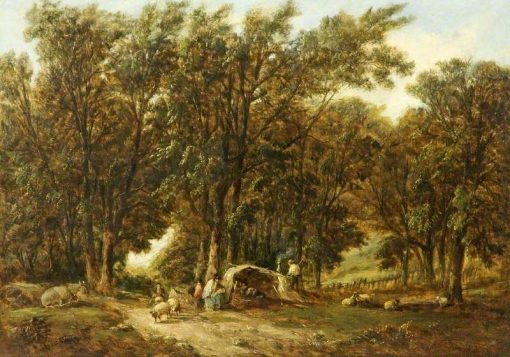 Gypsy Encampment | Alfred Vickers | Oil Painting