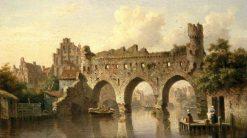 Ruins over the River Birchel at Zutphen