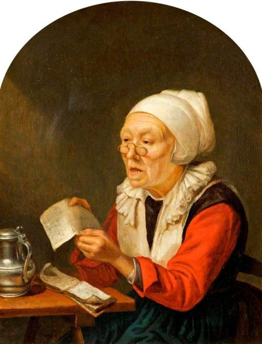 Old Woman Singing   Gerrit Dou   Oil Painting