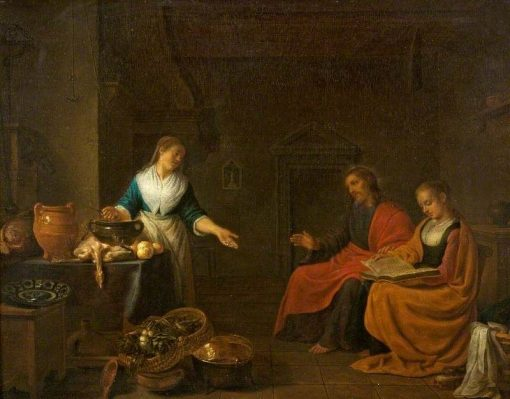 Christ in the House of Martha and Mary | Hendrik Martensz. Sorgh | Oil Painting