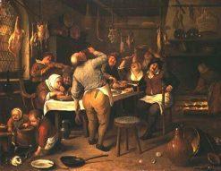 The Fat Kitchen | Jan Havicksz. Steen | Oil Painting