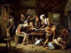 The Lean Kitchen | Jan Havicksz. Steen | Oil Painting