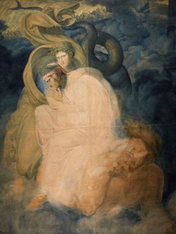 Dante and Virgil Carried by the Monster Geryon | Joseph Anton Koch | Oil Painting