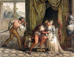 Paolo da Malatesta and Francesca da Rimini surprised by Gianciotto Malatesta | Joseph Anton Koch | Oil Painting