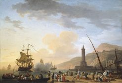 A Seaport at Sunset | Claude Joseph Vernet | Oil Painting