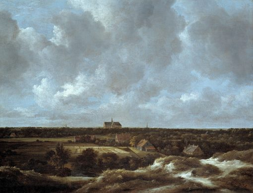 A View of Haarlem and Bleaching Fields | Jacob van Ruisdael | Oil Painting