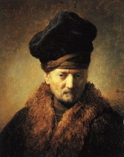 Bust of an Old Man in a Fur Cap | Rembrandt van Rijn | Oil Painting