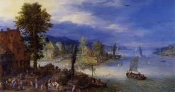 A River Landscape | Jan Brueghel the Elder | Oil Painting