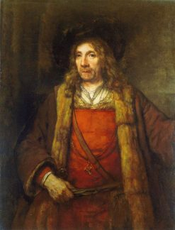 Man in a Fur-Lined Coat | Rembrandt van Rijn | Oil Painting