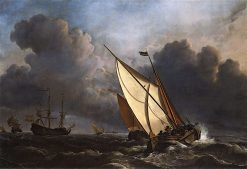 Ships in a Stormy Sea | Willem van de Velde the Younger | Oil Painting