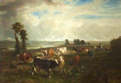 Les hauteurs de Suresnes | Constant Troyon | Oil Painting