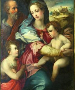 Holy Family with the Infant Saint John the Baptist | Italian School th Century   Unknown | Oil Painting