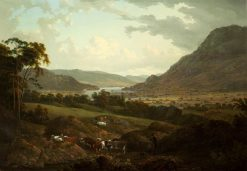 A Scene in the Lake District | Julius Caesar Ibbetson | Oil Painting