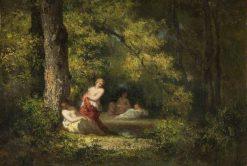 Four Nymphs in a Wood | Narcisse Dìaz de la Peña | Oil Painting