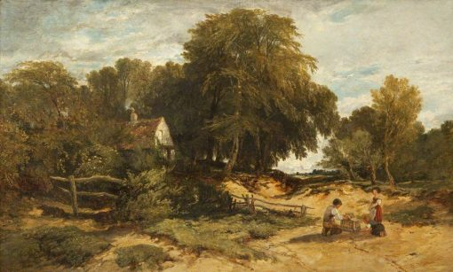 Wooded Landscape with Children | William James Muller | Oil Painting