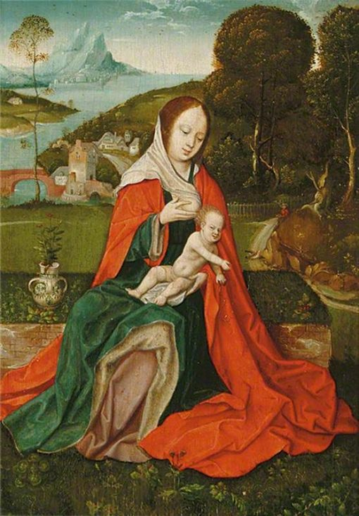 Madonna and Child in a Landscape (Triptych centre panel) | Herri met de Bles | Oil Painting
