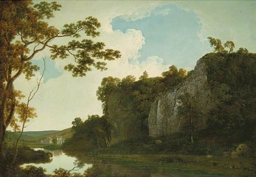 River Landscape   Joseph Wright of Derby   Oil Painting